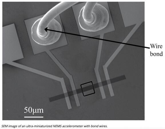 利用石墨烯打造的全球最小加速度计