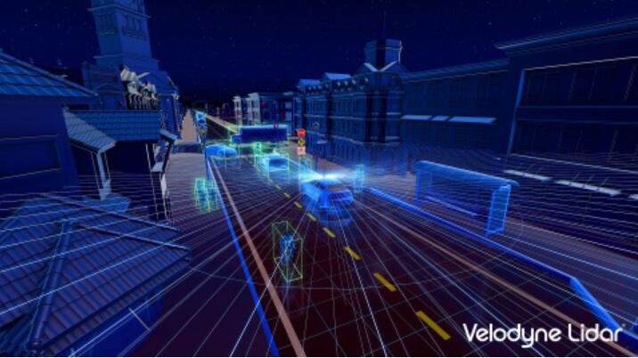 Velodyne激光雷达Alpha Puck™可同时定位车辆周围人员和物体的位置,并评估它们移动的速度和路线