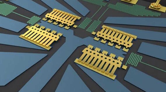 ADI针对射频应用提供多种MEMS开关,图中所示的引线键合则提出了更小元件尺寸的概念