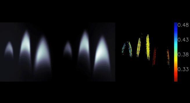 超透镜深度传感器实时捕捉透明的蜡烛火焰的深度信息