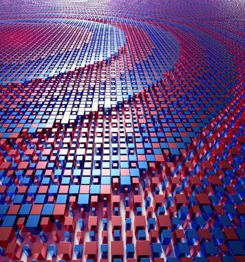 为紧凑型深度传感器设计的超透镜示意图