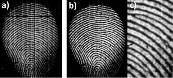 新型指纹传感器捕捉的指纹图像