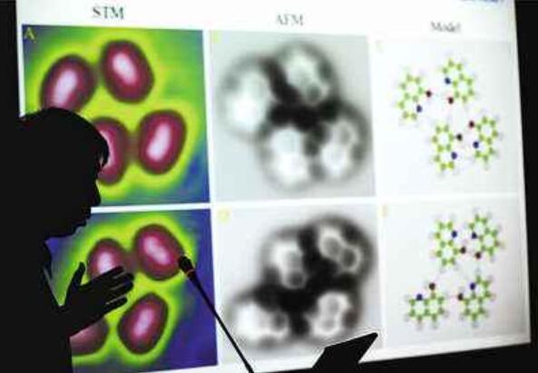 2013年11月22日,国家纳米科学中心研究员裘晓辉博士在介绍他们直接观察到的氢键