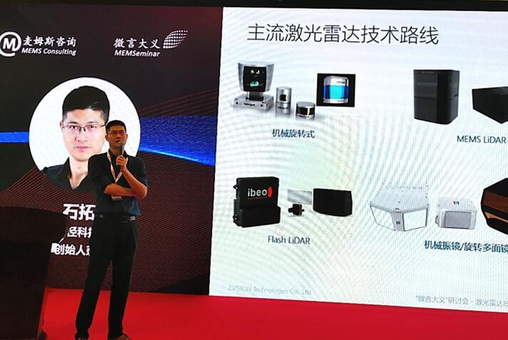 一径科技联合创始人兼CEO石拓先生分享对主流激光雷达技术路线的理解