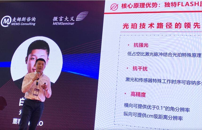 光珀智能董事长兼CEO白云峰先生介绍公司技术优势