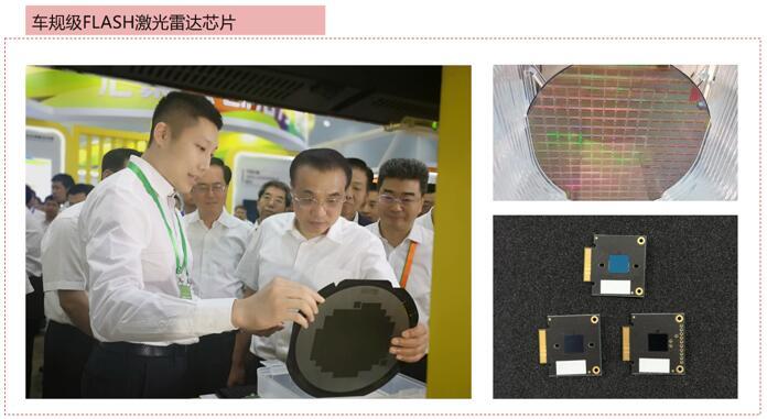白云峰先生向李克强总理介绍光珀智能的Flash激光雷达芯片情况