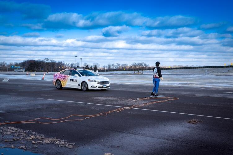 由FLIR签约的VSI Labs在底特律附近的美国移动中心进行了AEB-P的初步测试