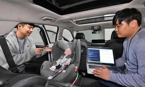 现代摩比斯开发基于雷达的后座乘客检测系统,可测量生理信号