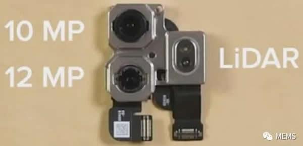 图片右侧为iPad Pro激光雷达扫描仪(LiDAR)