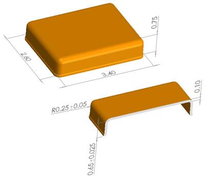 MEMS麦克风屏蔽外壳尺寸