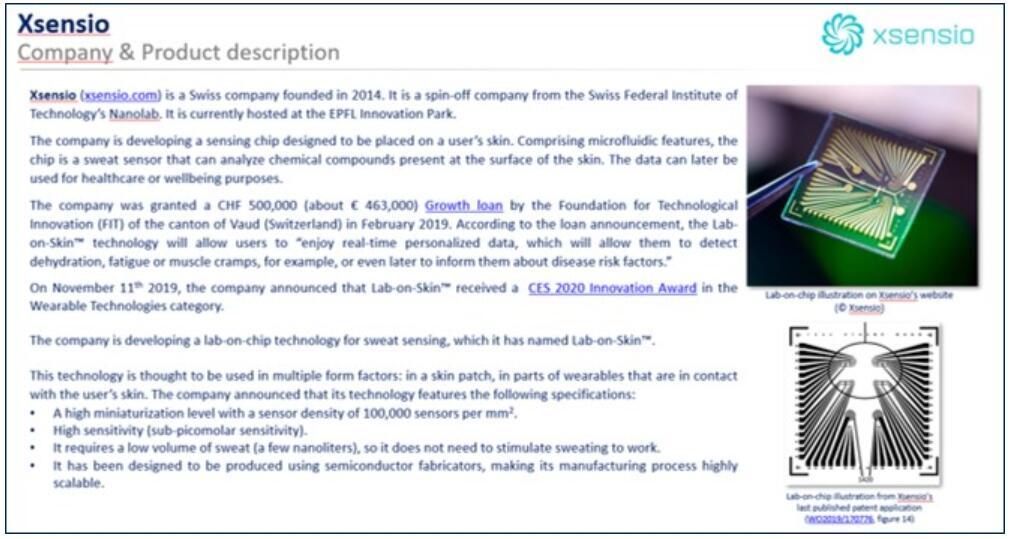 微流控初创公司Xsensio介绍举例