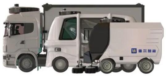惠尔智能自动驾驶物流配送车和扫地车