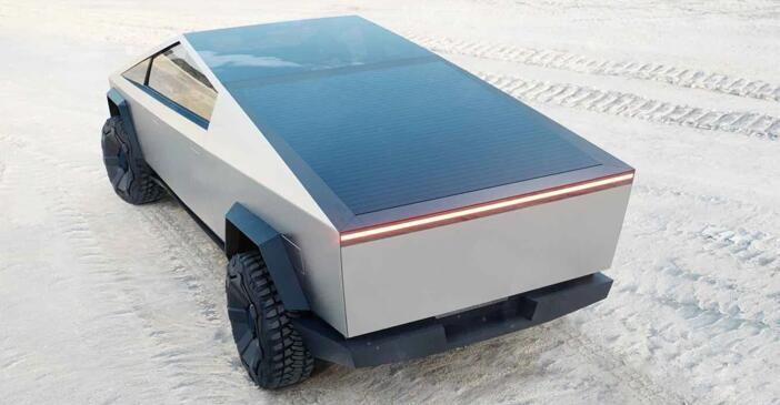 特斯拉Cybertruck可以提供大面积的太阳能盖板