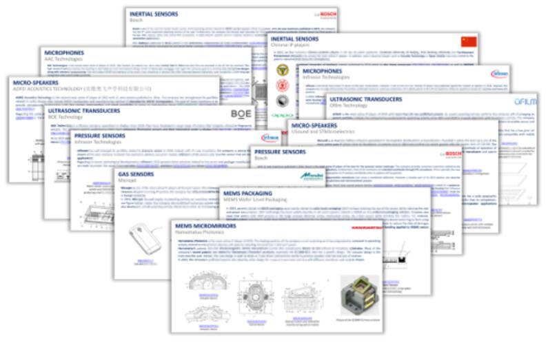本报告分析MEMS厂商的新技术/新应用