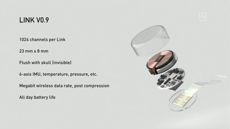 Neuralink植入式脑机接口设备LINK V0.9