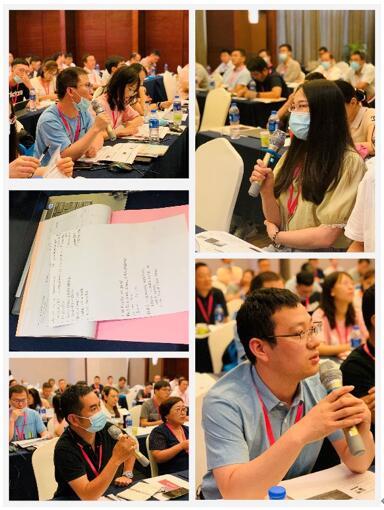 踊跃发言的学员们和满满的笔记