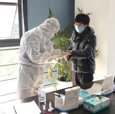 聚芯微电子组织全员核酸检测