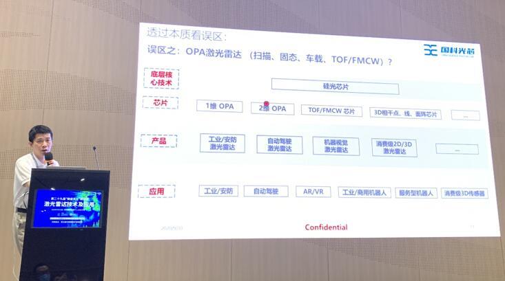 国科光芯董事长刘敬伟先生为观众解释大众对OPA技术的认识误区