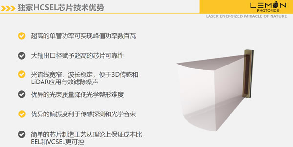 柠檬光子独家HCSEL芯片技术优势