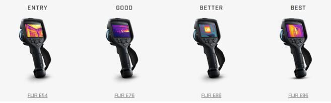 新款Exx系列热像仪性能对比