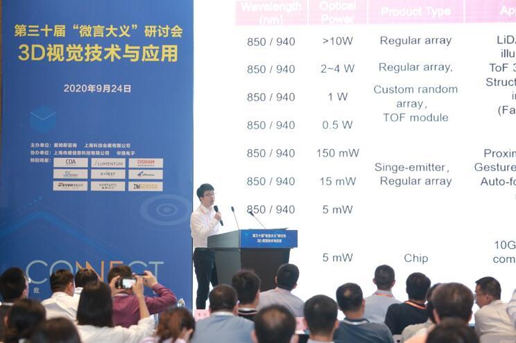 """纵慧芯光联合创始人兼亚太区CEO陈晓迟博士在『第三十届""""微言大义""""研讨会:3D视觉技术与应用』发表精彩演讲"""