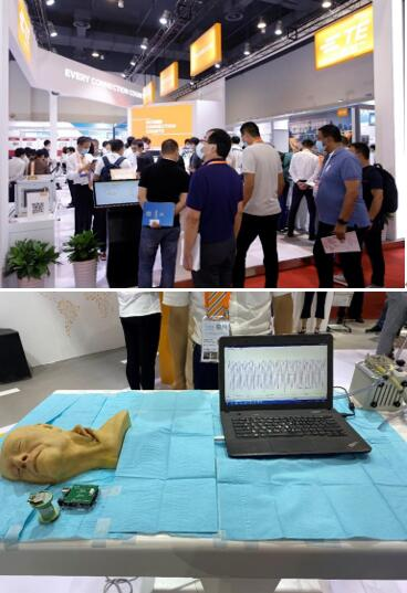 "TE的IntraSense系列传感器测量""颈动脉""脉搏的压力图"