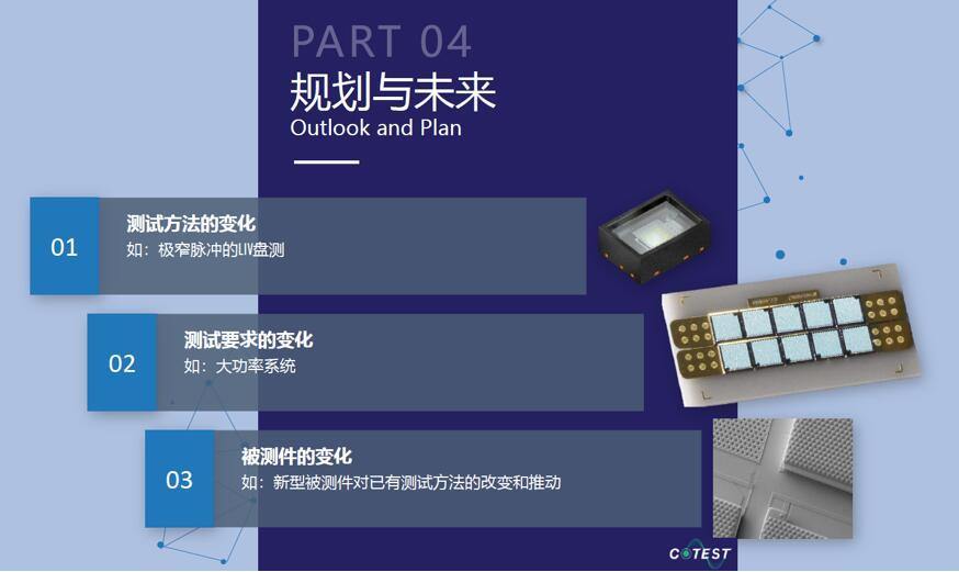 柯泰测试未来几年3D传感VCSEL测试服务规划