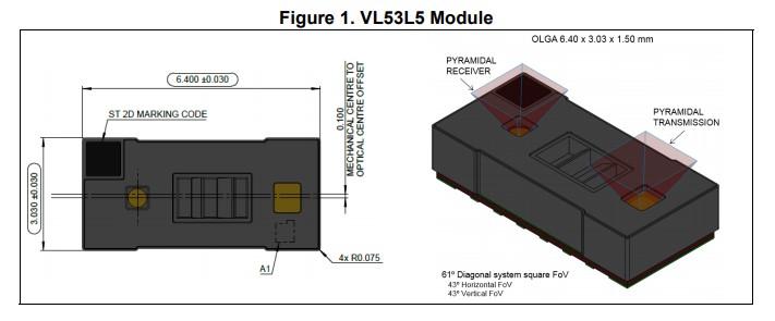 dToF传感器模组VL53L5