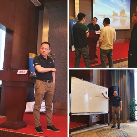 v上海巨哥电子科技有限公司总经理沈憧棐的授课风采
