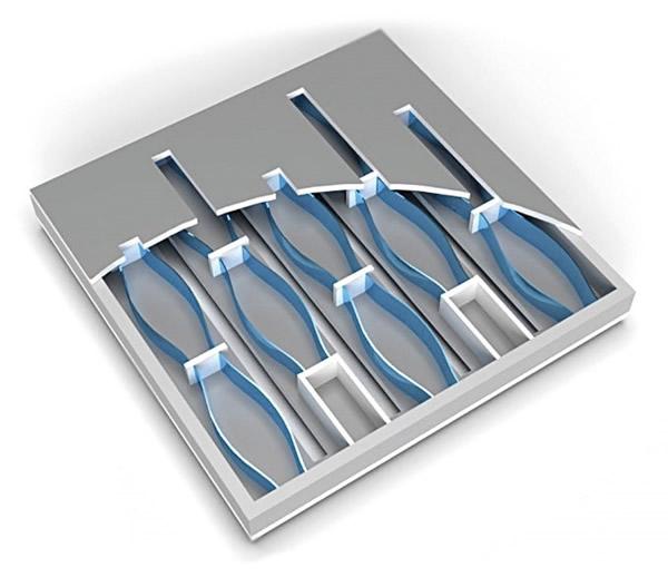 利用硅芯片的微腔体而不是表面振膜来产生声音的MEMS扬声器