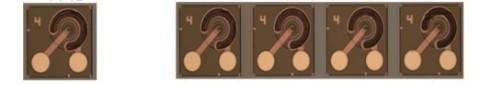 首尔伟傲世的25Gbps VCSEL(左)和100Gbps 4通道VCSEL(右)