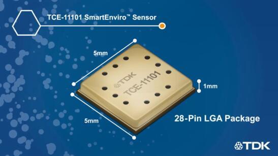 TDK革命性CO2气体传感器:InvenSense TCE-11101