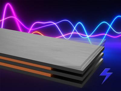 将机械振动转换为电能的压电能量收集器示意图