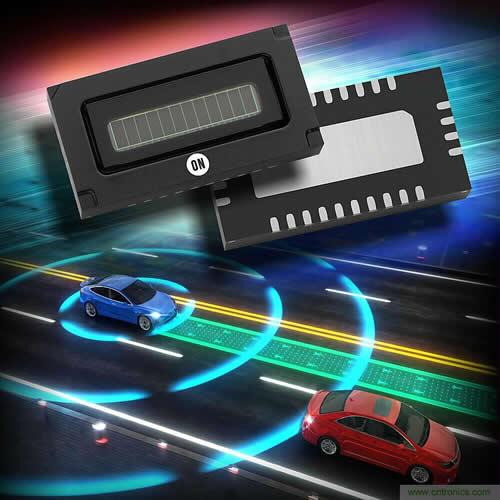 安森美半导体发布世界首款车规级激光雷达SiPM阵列产品
