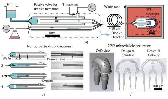 微流控探头的示意图,可用于精确药物输送和取样