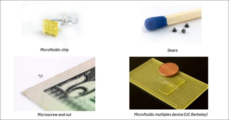 利用BMF高精密3D打印机制作的微型器件