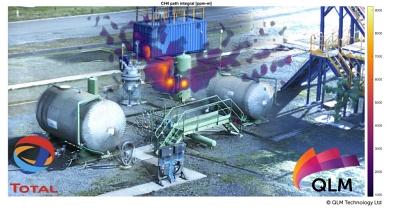 道达尔(Total)工厂的甲烷气体成像
