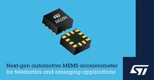 意法半导体推出面向高性能汽车应用的下一代MEMS加速度计