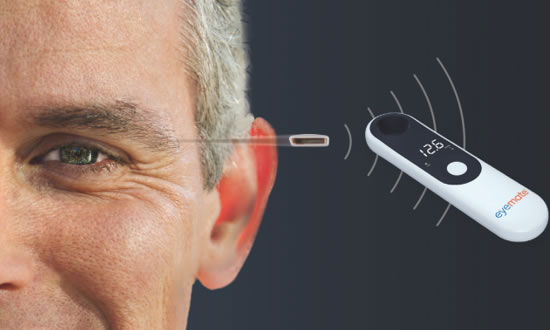 用于青光眼远程护理的生物传感器Eyemate-SC获准上市