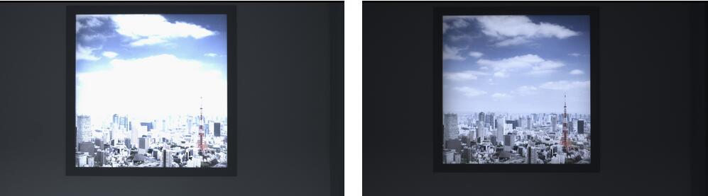 左图:上一代型号(IMX485)单次曝光成像;右图:新一代型号(IMX485)单次曝光成像