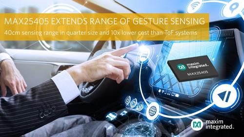 Maxim推出红外动态手势传感器,比ToF摄像头方案更小更便宜