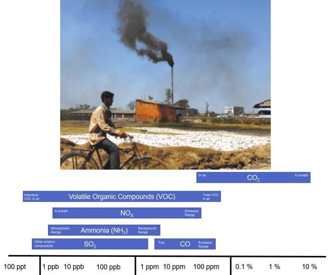 典型的气体污染物含量