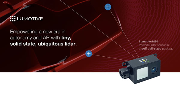 Meta-Lidar™激光雷达平台主力产品Lumotive M30