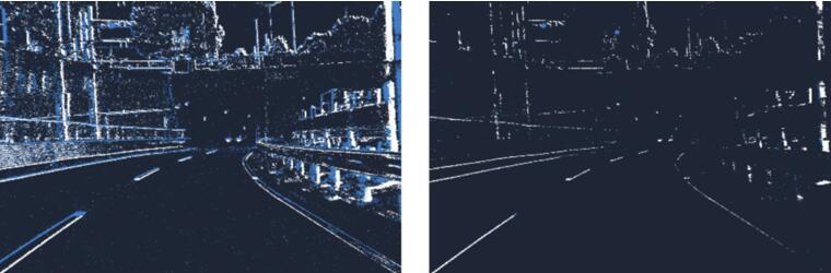 左:事件过滤功能关闭,右:事件过滤功能开启。事件过滤功能开启后,数据量减少约92%