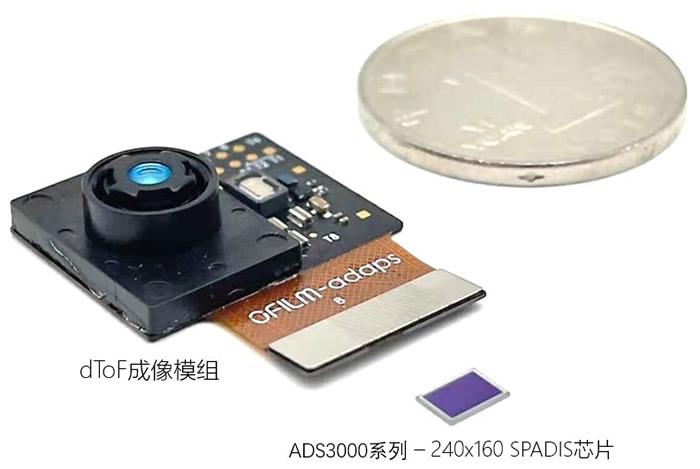 灵明光子ADS3000系列SPADIS芯片,以及与欧菲光合作推出的ADS3000系列dToF成像模组