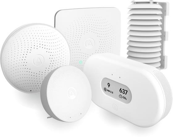 Airthings推出的商用CO₂监测系列产品,可通过电池供电的无线传感器,为用户提供远程、可视化室内CO₂等空气质量监控
