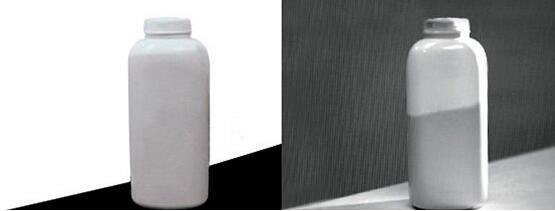 SWIR imaging system: white bottle